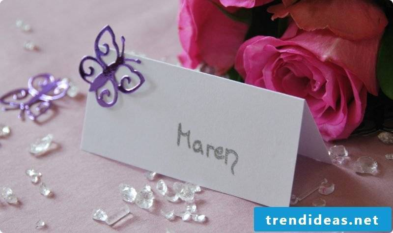 wedding cards tinker white card with purple butterfly