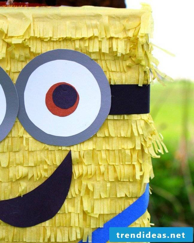 Make instructions for Pinata yourself: Craft ideas for a birthday