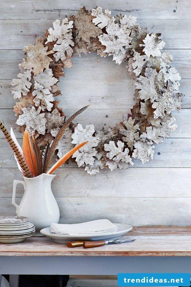 Autumn decoration modern - tinker autumnal wreath