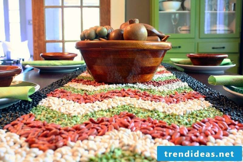 Creative idea for table decoration with bean