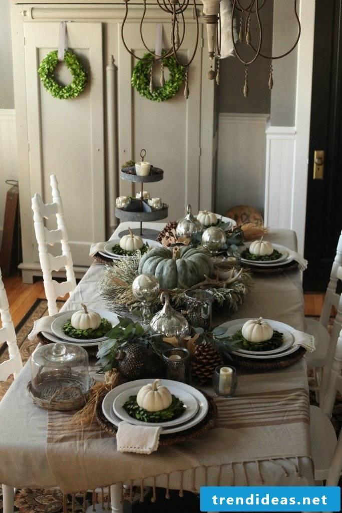 Autumn decoration Modern table decoration Autumn