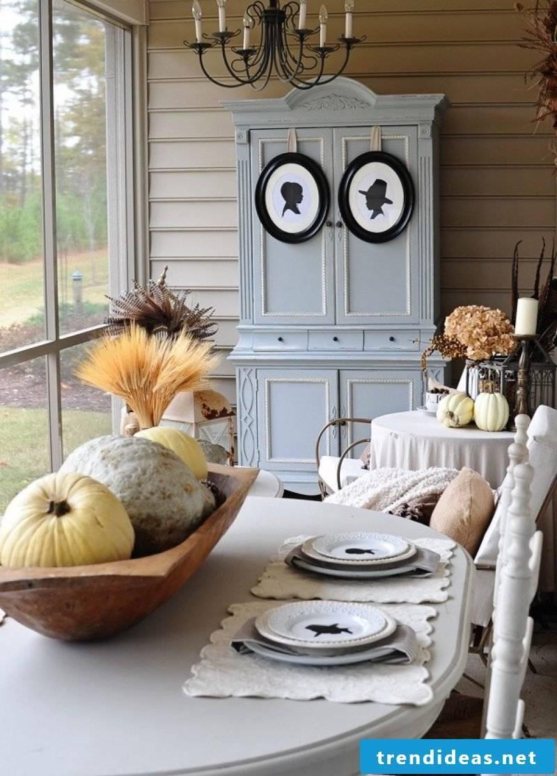 Autumn decoration modern Scandinavian decor