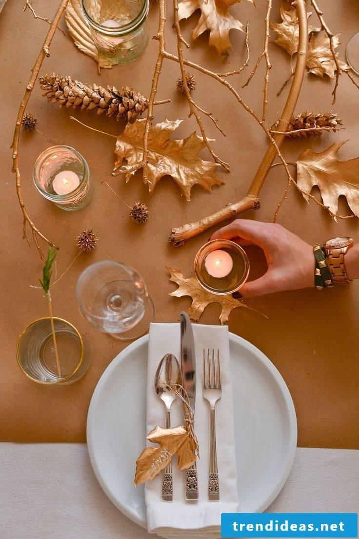 Pictures autumn table decoration