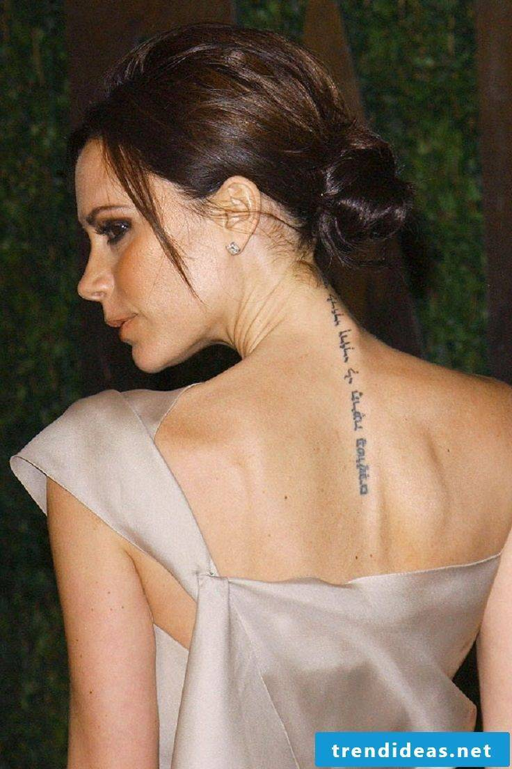 tattoo writings spine ideas women tattoo saying