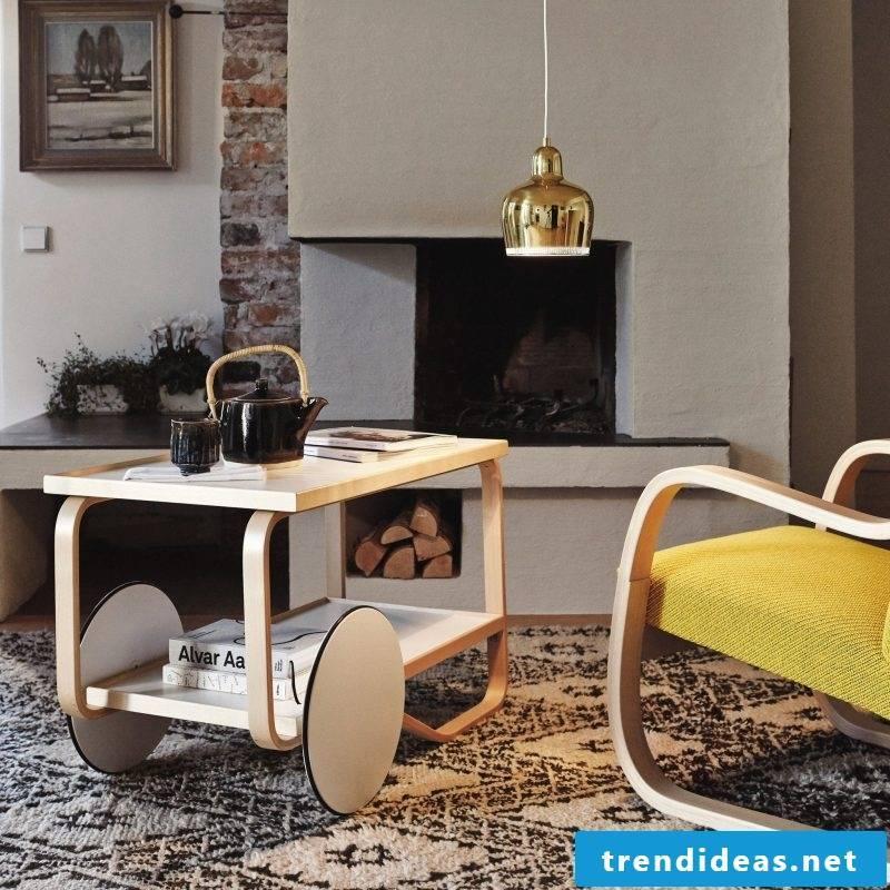 Furniture designer Alvar Aalto table