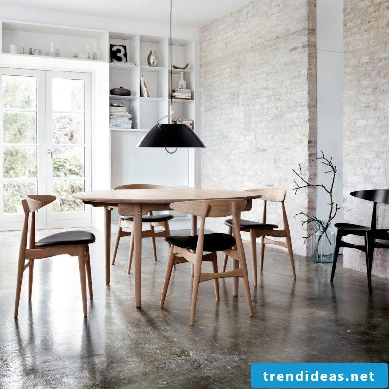 Furniture designer Wegner dining table and chairs