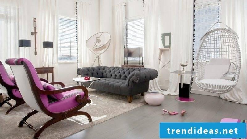 Furniture designer living room design