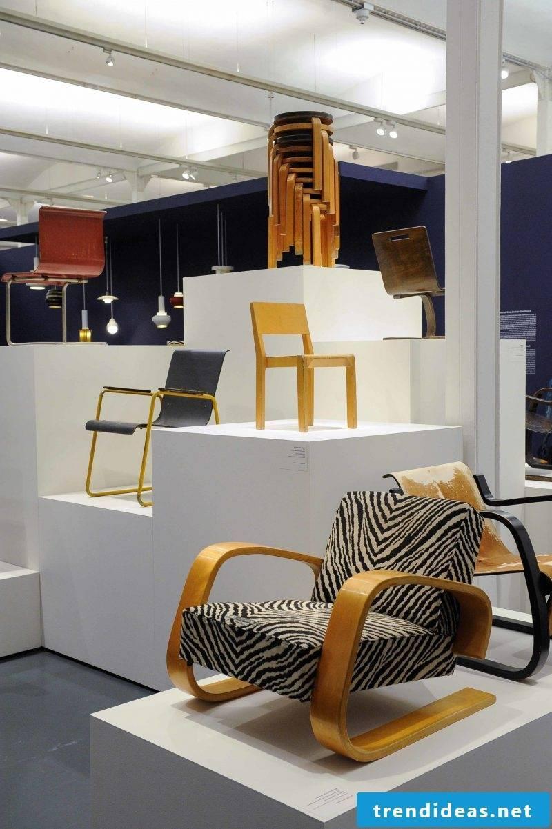 Furniture designer Aalto chairs