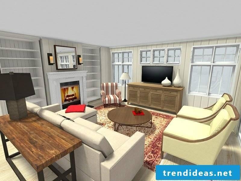 Living room design RoomSketcher online room designer