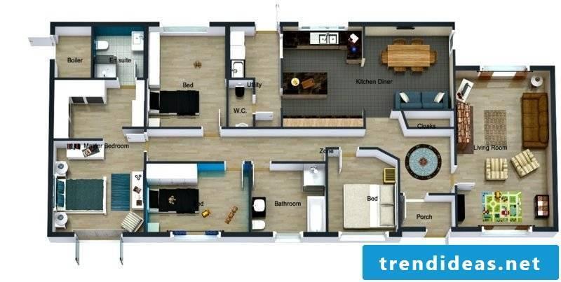 Room Designer online 3D free roomsketcher interface