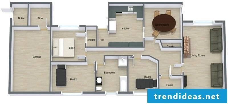 Room designer Roomsketcher House scheme Interior design