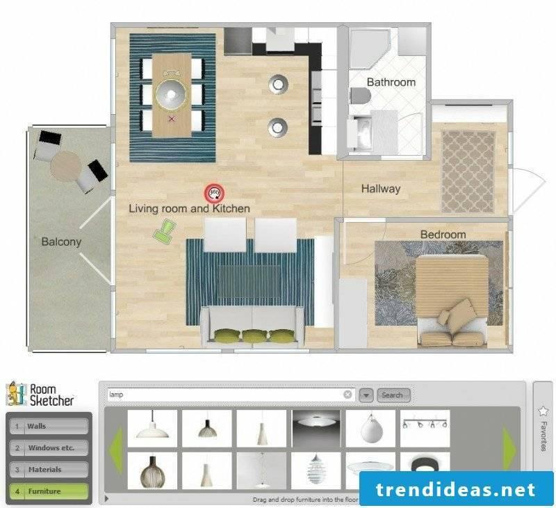 Interior design 3d room designer RoomSketcher