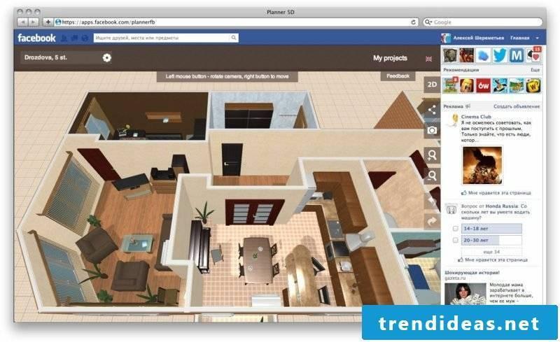 3D Interior Designer My Deco Options Interface
