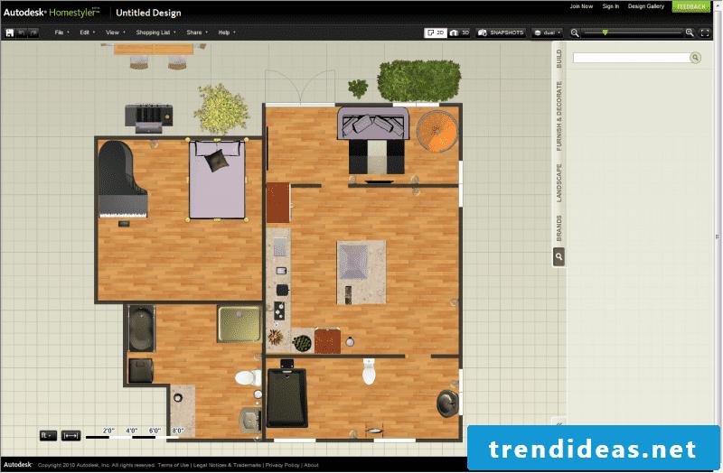 Software interior design Homestyler 3D for free