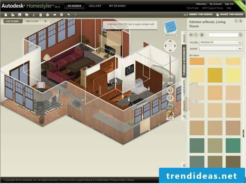Interior design room designer Homestyler
