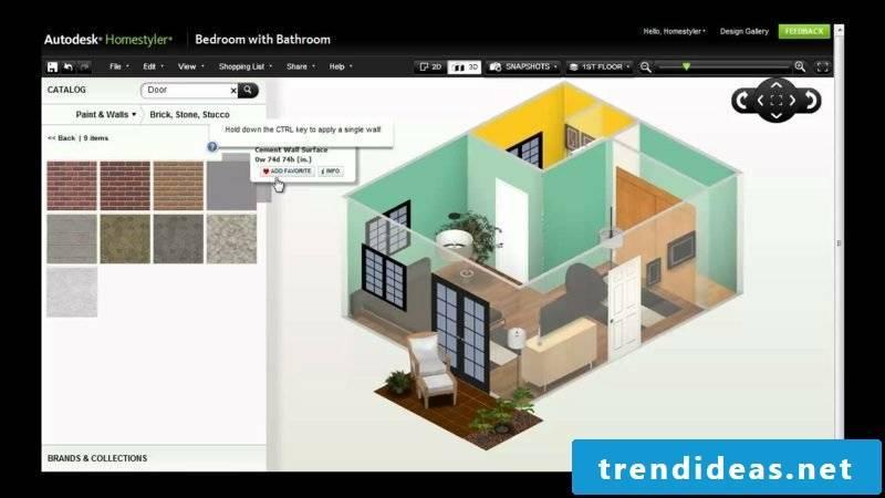 Interior Designer Homestyler Interface Options