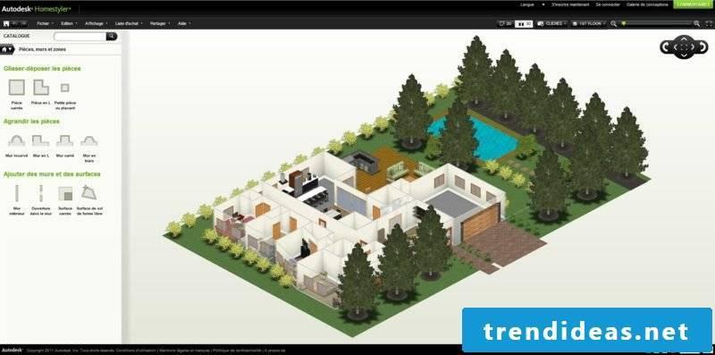 Room designer Homestyler plan online