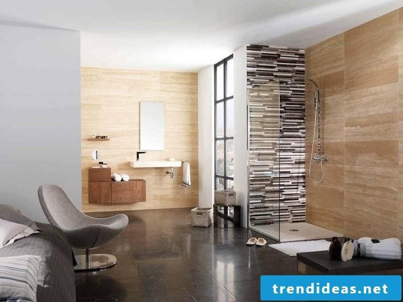 Bathroom design travertine tiles