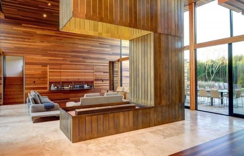 Travertine tiles living room design