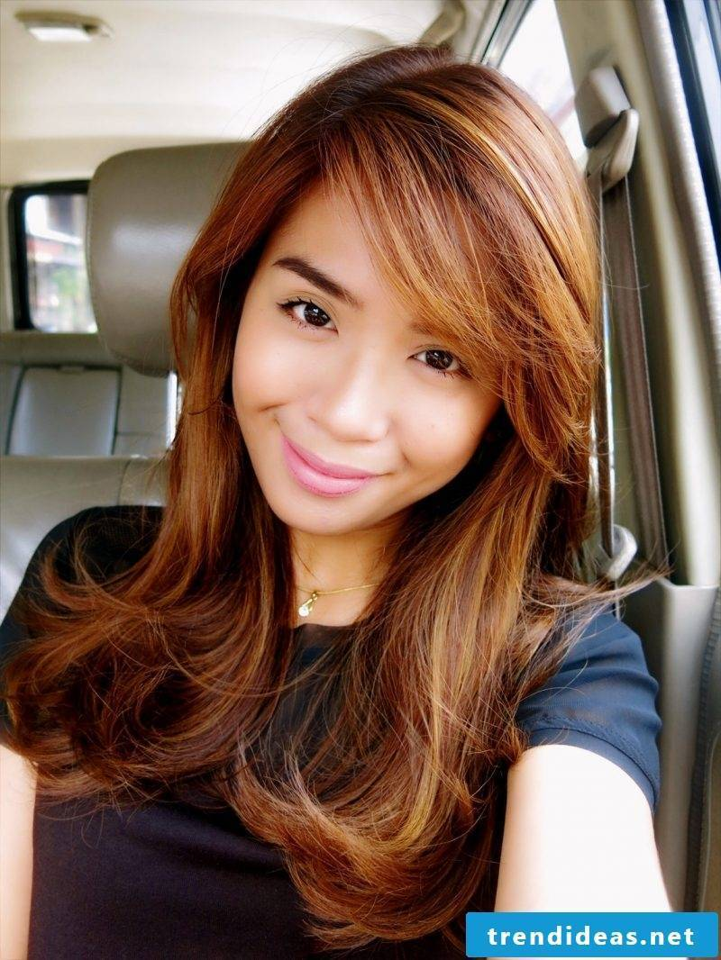 Copper brown hair color trend