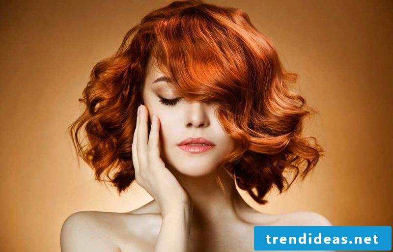 Copper brown hair color intensive red