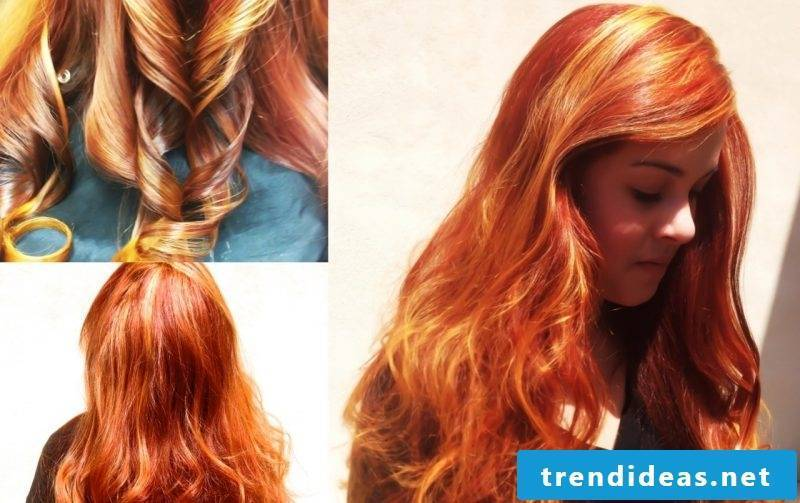 Copper brown hair color intensive