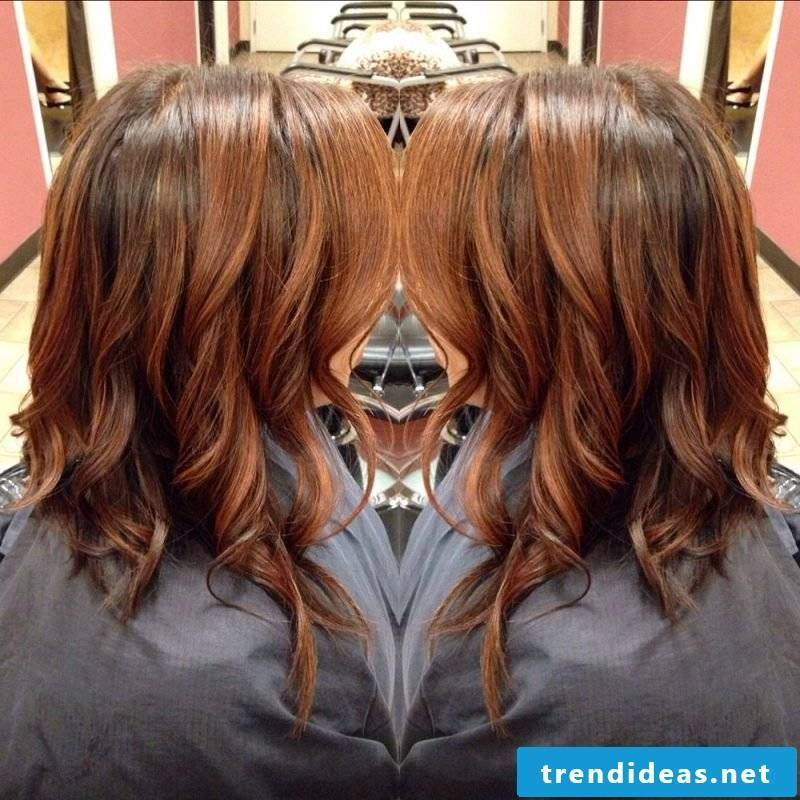 Copper brown hair color waves