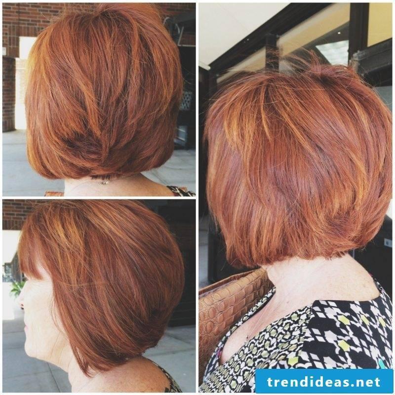 Copper brown hair color Bob
