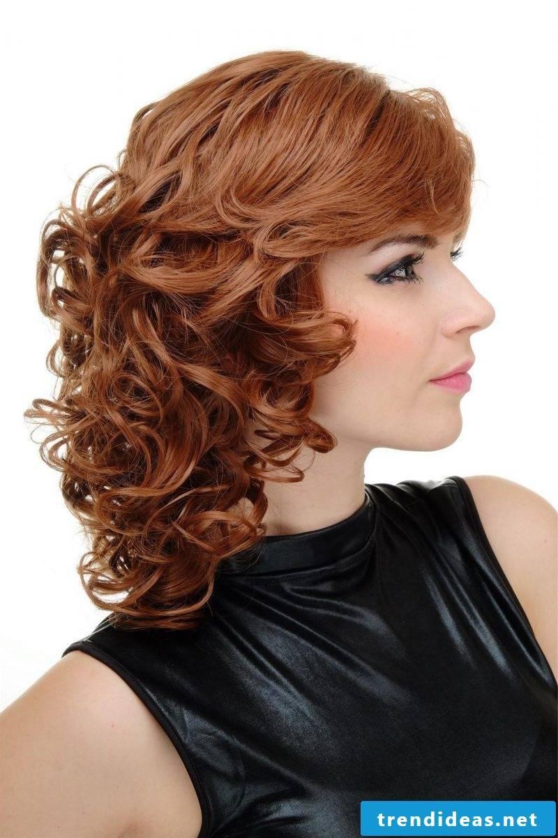 Copper brown hair color curls