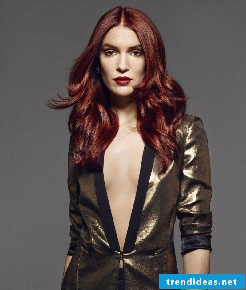 Copper brown hair color dark red
