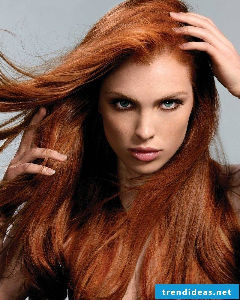 Copper brown hair color red