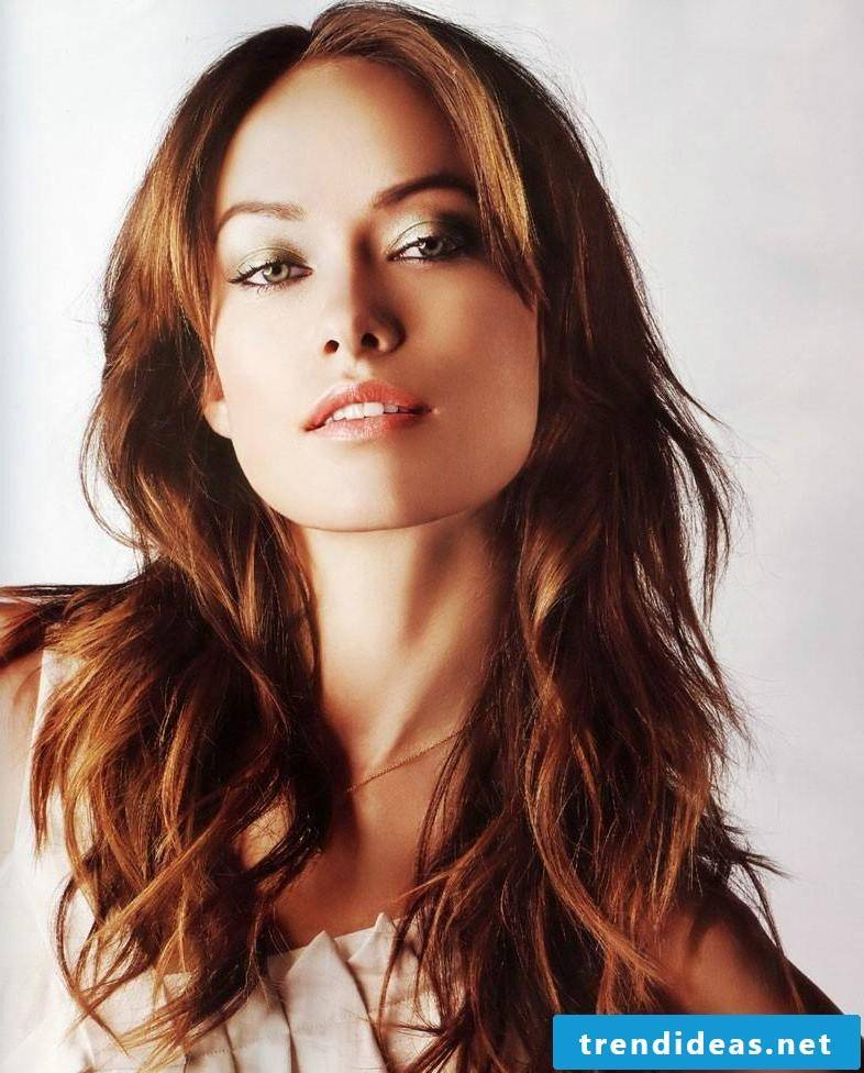 Copper brown hair color style
