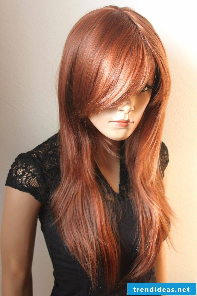 Copper brown hair color styles