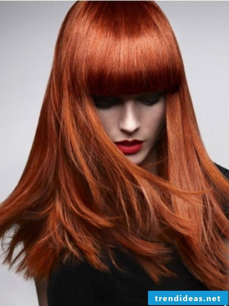 Copper brown hair color copper red