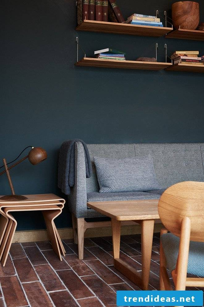 Petrol color living room