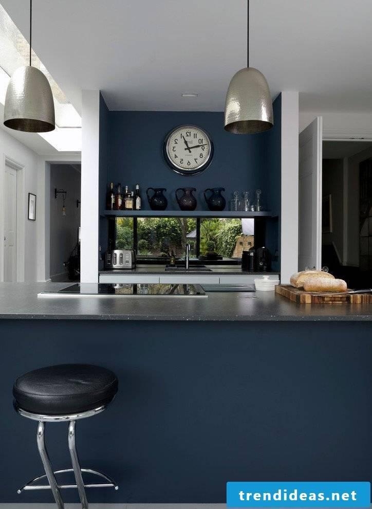 Petrol color kitchen
