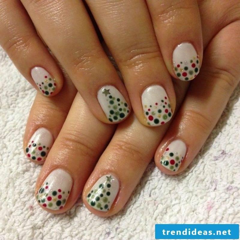 Nails design for Christmas silvester tender points
