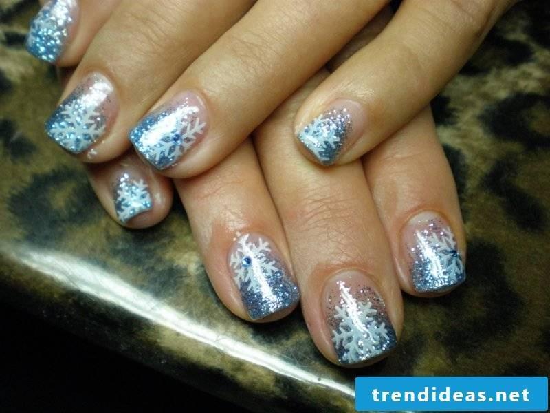 Nail art design for christmas glitter