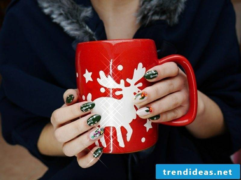 nail design christmas big cup