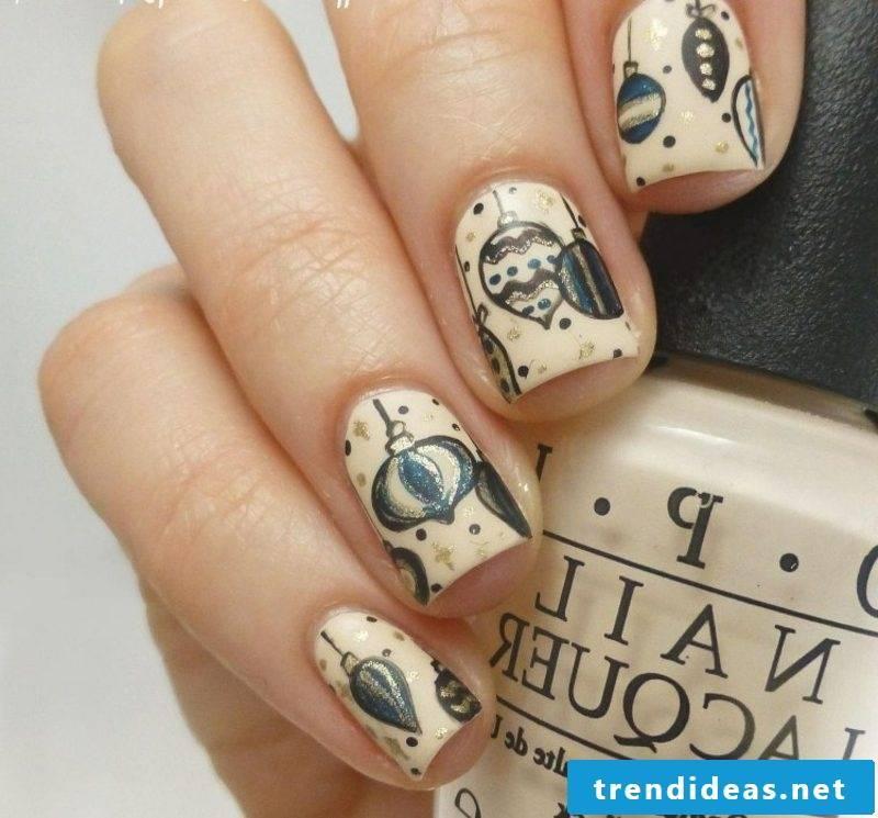 Nail art design for christmas christmas decorations shimmer
