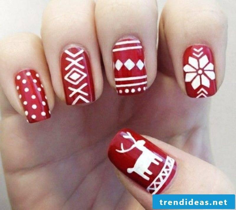 Nail art design for Christmas winter nail art