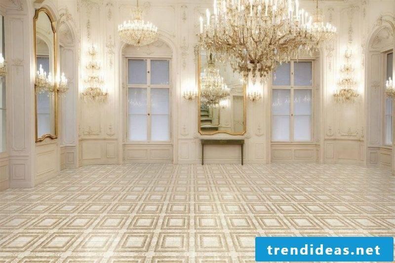 Tile laying pattern cross dressing