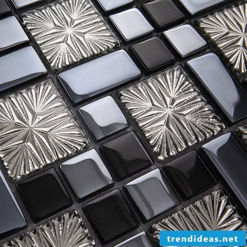 Tile laying pattern crystal tiles