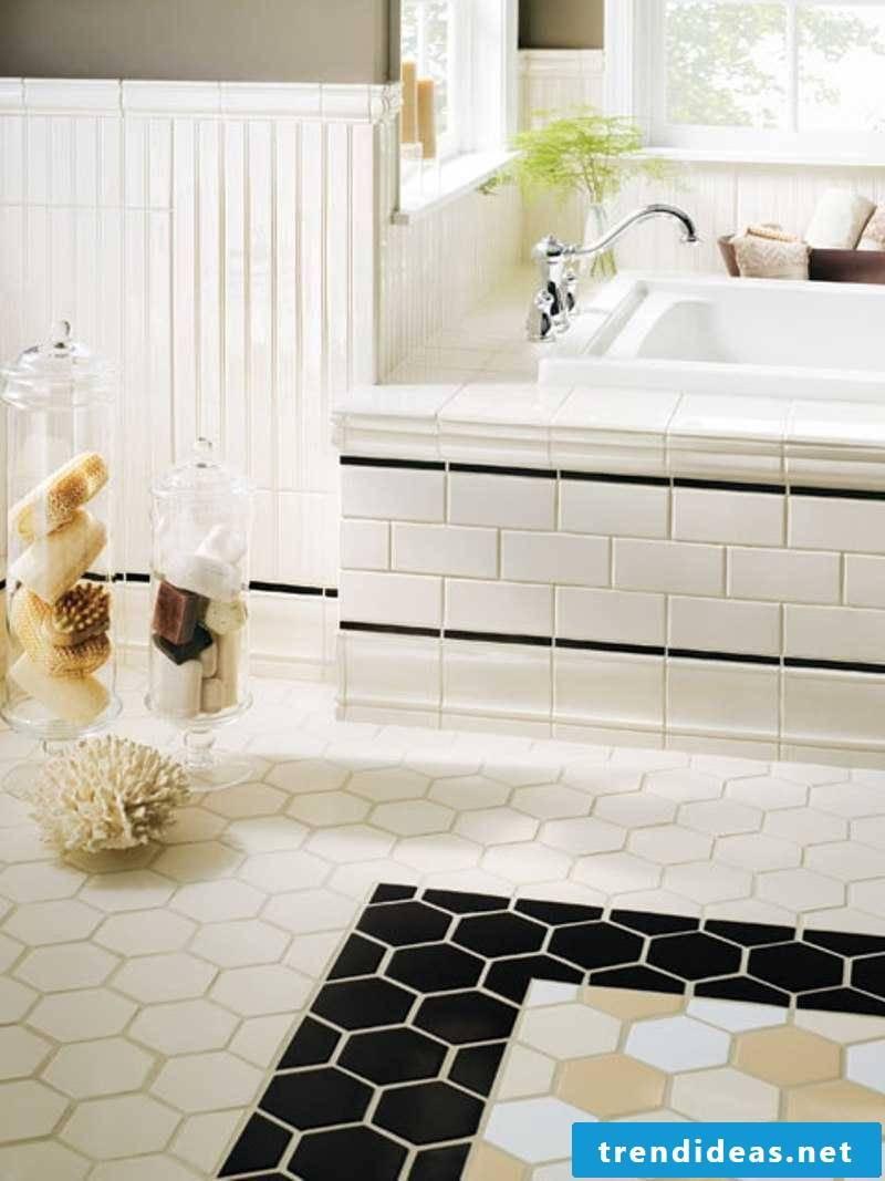 Tile laying pattern bathtub cladding