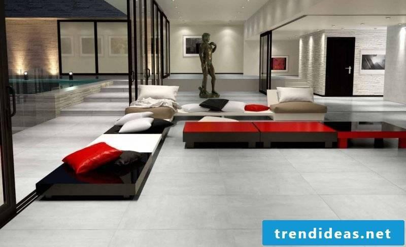 Tile laying pattern dressing