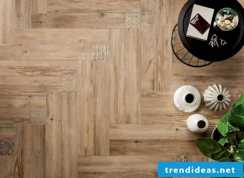 Tile laying pattern Fischgraetverband