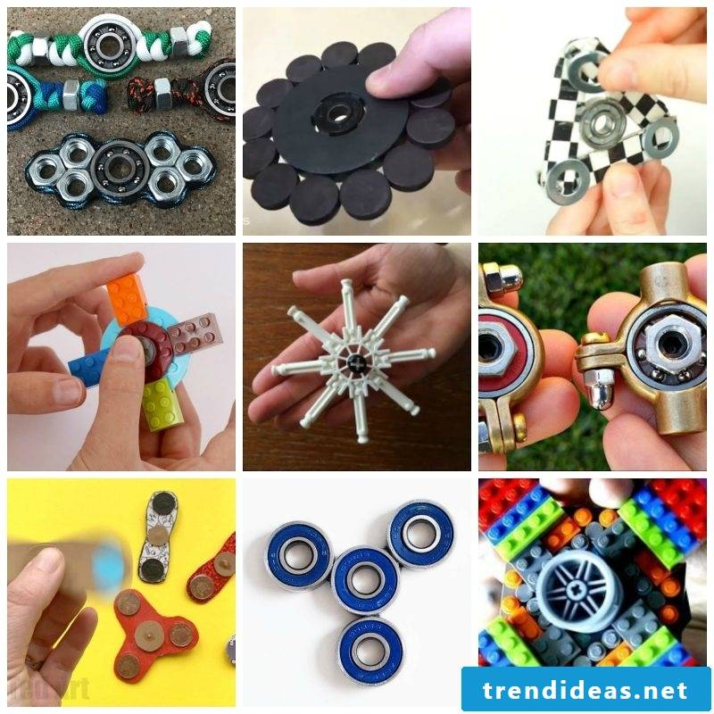 Fidget spinner types
