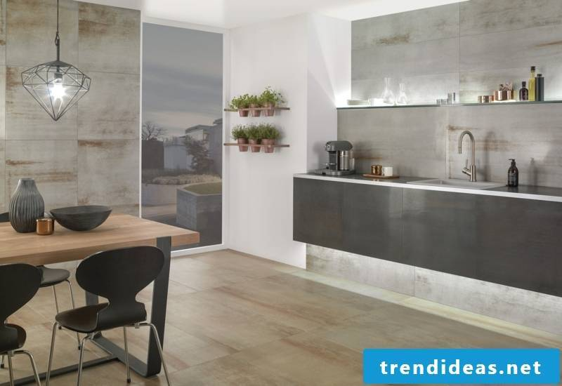 villeroy and boch tile collection Metallic Illusion kitchen wall