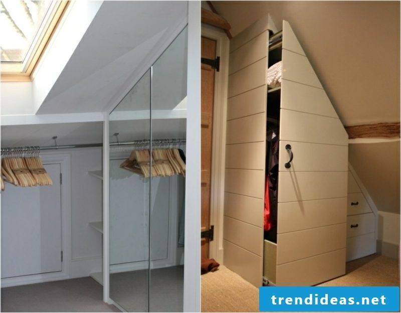 walk-in closet under roof slope variants