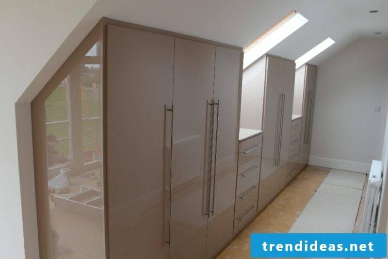 brown wardrobe walk-in roof pitch